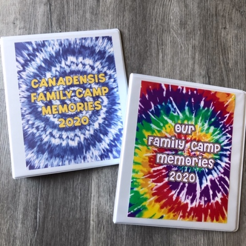 TIE DYE MEMORY BOOK/PHOTO ALBUM (CUSTOM)